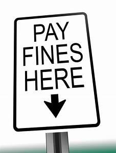 Fine Payment sign